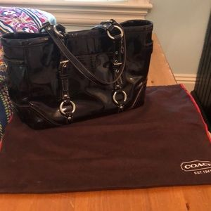 Chocolate Brown Coach Tote